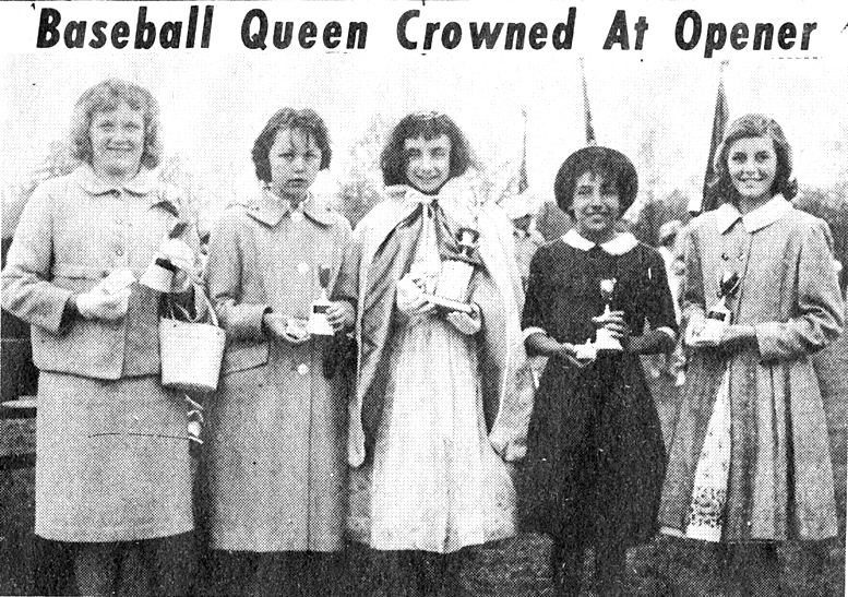 Theresa Costantini, 1960 Miss Junior Baseball, South Plainfield NJ