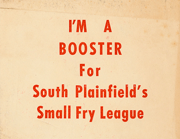 South Plainfield Small Fry League Booster Sticker