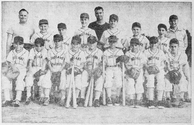 1955 Cornell-Dubilier Indians, South Plainfield, NJ, Small Fry Baseball League