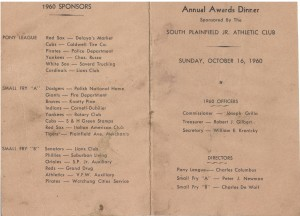 1960 Small Fry Awards dinner program 2